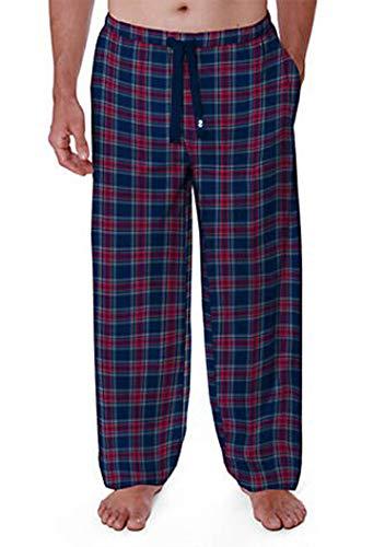 IZOD Men's Advantage Sleepwear Silky Fleece Pajama Pants (Navy/Red/Yellow, XX-Large) (Yellow Pajama Pants)