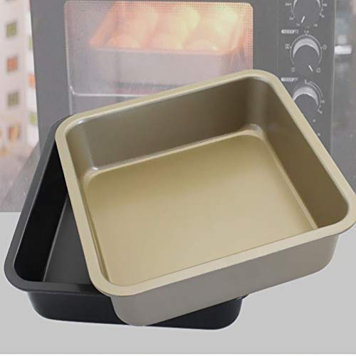 Home High-quality High-grade Carbon Steel Non-stick Square Tray Cake Mold 8 Inch Square Plate Best Biscuit Table Kitchen Baking Tools