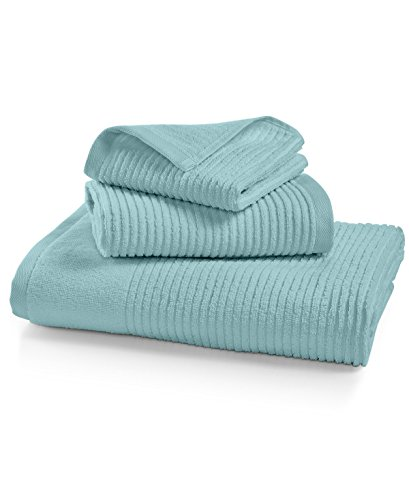 - Martha Stewart Quick Dry Reversible Wash and Hand Towel Set (Aqua Glass)