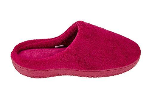 MOXO Zapatillas de estar por casa mujer Rojo oscuro