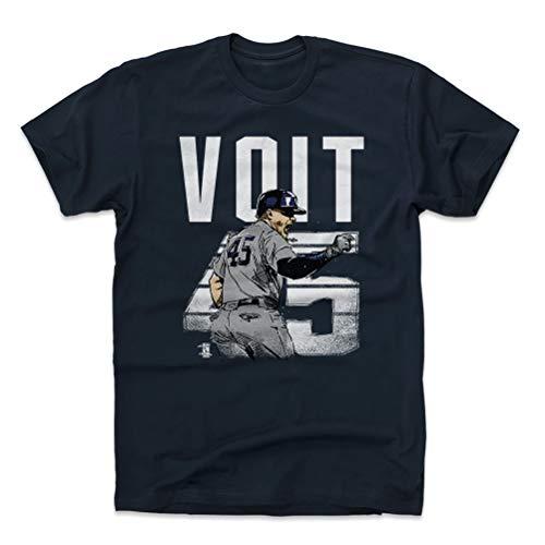(500 LEVEL Luke Voit Cotton Shirt XX-Large True Navy - New York Baseball Men's Apparel - Luke Voit Retro W WHT)