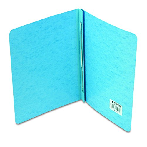 (ACCO PRESSTEX Report Cover, Side Bound, Tyvek Reinforced Hinge, 8.5 Inch Centers, 3 Inch Capacity, Letter Size, Light Blue (A7025072A) )