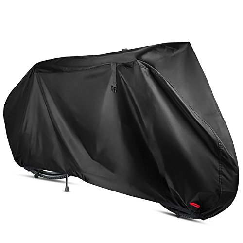 Outdoor Waterproof Bike Cover, 29 inches Bicycle Covers with Lock Hold and water-resistant strap, Heavy Duty 210D Oxford Fabric, Protect from UV Rain Snow Dust for Mountain Road Electric Bike Hybrid