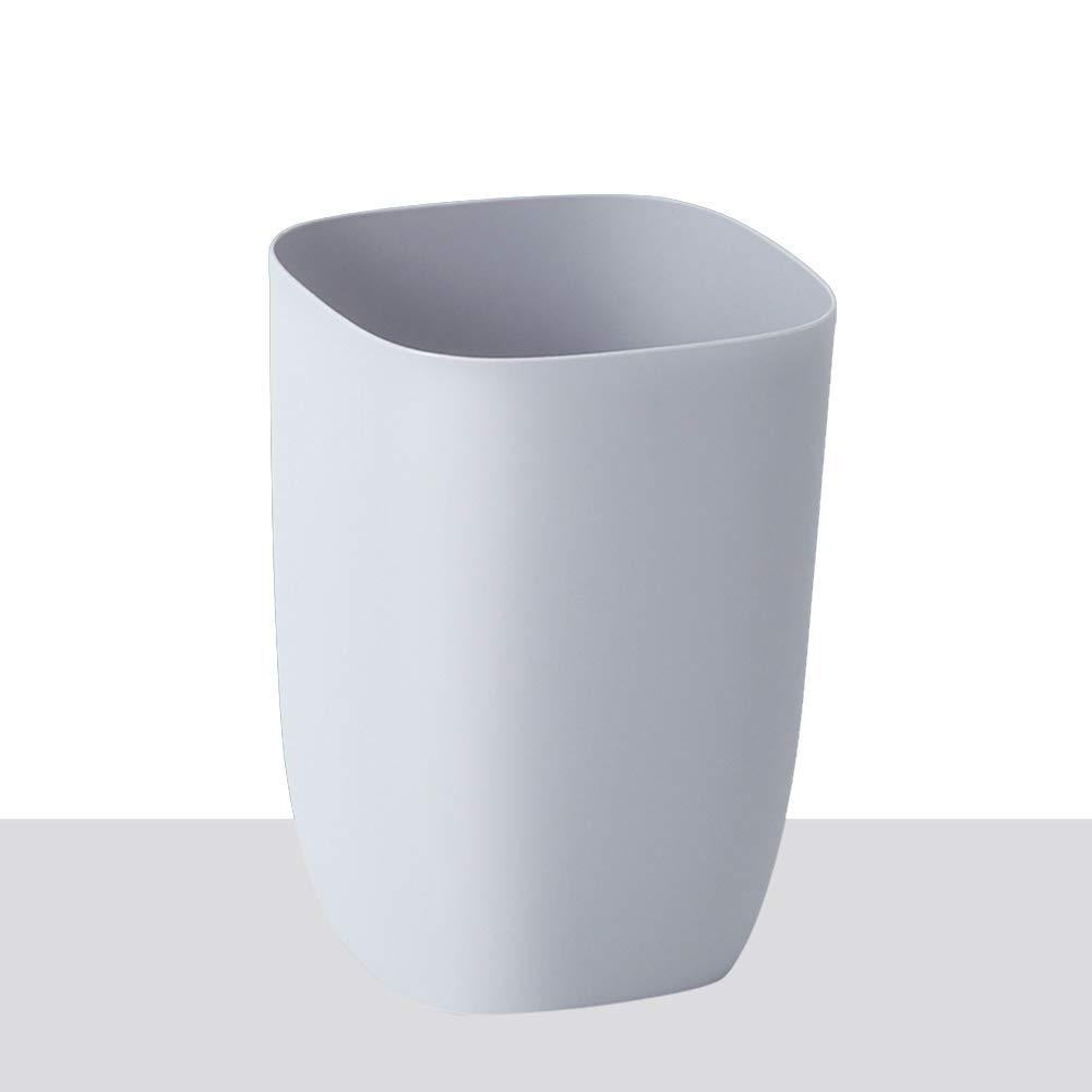 Wkkie Se Se Wkkie superponen Abierto Top Cubo de Basura, Plástico Basurero Sin Tapa Cubo de la Basura para Cuarto de baño, Oficina, Cocina-Gris 7L-Soltero ff507a