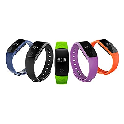 Febite Bluetooth 4.0 Smart Bracelet smart band Heart Rate Monitor Wristband Fitness Tracker for Android iOS Smartphone