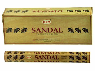 Sandalwood Incense Sticks (Sandal (Sandalwood) - Box of Six 20 Gram Tubes - HEM)