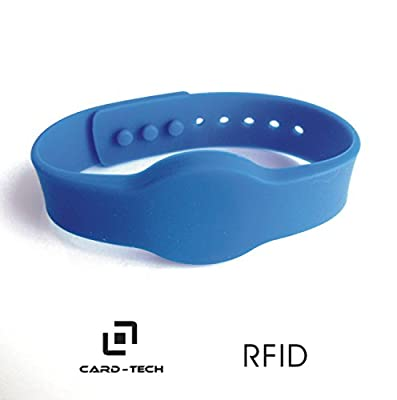 Card-tech 5pcs Silica Gel Rfid Wristband / Silicon Wirstband Tag Bracelet for Access Control Alien H3 Long Range Rfid