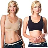 Genie Bra 3 in Set (One Nude One Black One White) w/ Removable Pads *As Seen on Tv (X-Large)