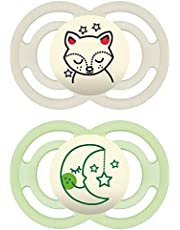 MAM Perfect Night Pacifiers, Glow in the Dark Pacifiers MAM Pacifiers 6 Plus Months, Best Pacifier for Breastfed Babies, Baby Boy Pacifier