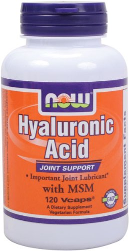 NOW Foods Acide Hyaluronique 100mg et Msm, 120 Vcaps