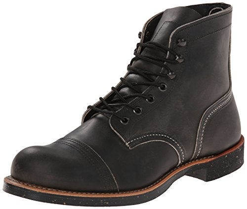 Red Wing Shoes - Zapatos de cordones de cuero para hombre Grey