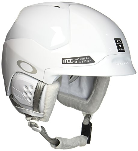 Oakley Mod5 Snow Helmet, Polished White, Medium ()