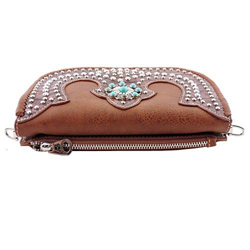 Green Camo Wallet Bling Shoulder Clutch in Handbag Built Cross American Crossbody gqfx86wS