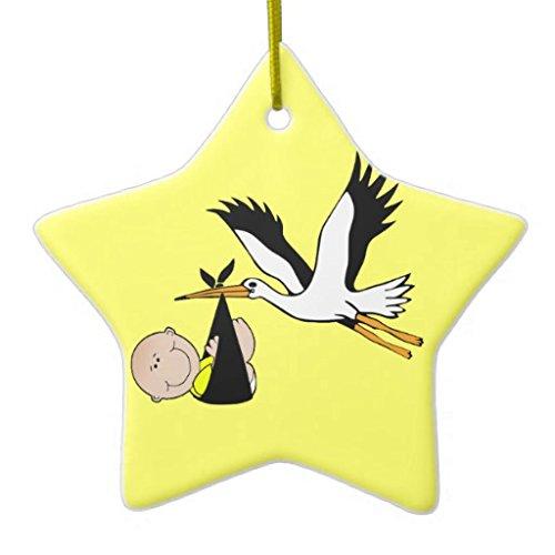 Snow-flake Adornos de Navidad con Forma de Estrella de Copo de Nieve, Adornos de Cerveza para bebé, Adorno de cerámica