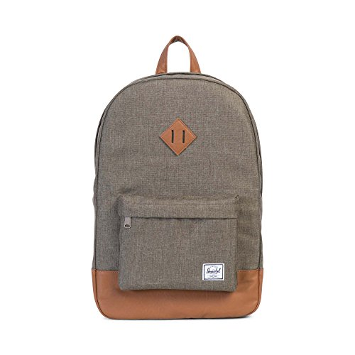 Herschel Heritage Backpack, Canteen Crosshatch/Tan Synthetic Leather