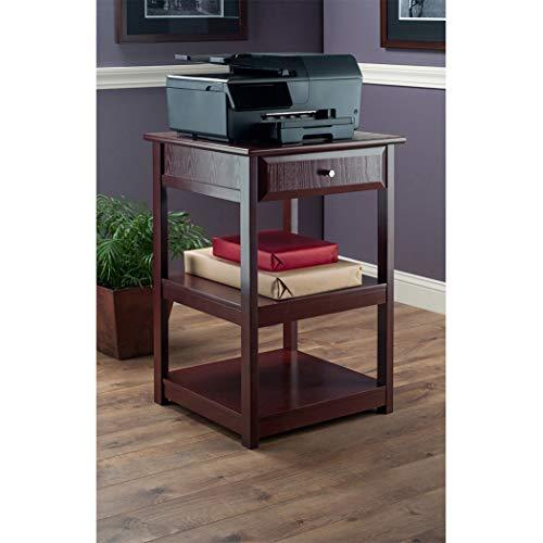 (Wood & Style Premium Décor Printer Table Walnut)