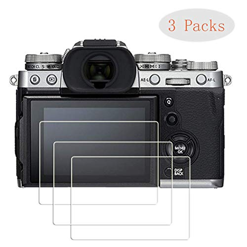 PCTC Screen Protector Foils Compatible for fujifilm X-T3 Fuji XT3 x-t3 Mirrorless Digital Camera Tempered Glass Anti-Scrach Fingerprint Waterproof High Transparency Foils 3 Pack