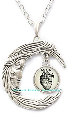 Anatomical Heart Pendant Anatomical Heart Necklace Anatomical Heart Jewelry,Q0132