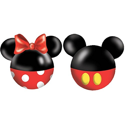 Disney Mickey and Minnie Mouse Ceramic Salt and Pepper Set, Red/Black