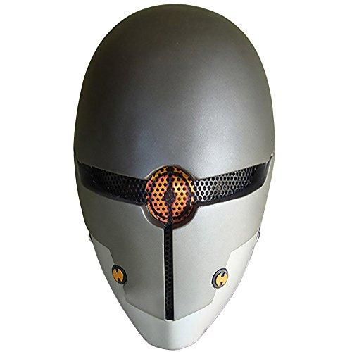 Evike R-Custom Fiberglass Wire Mesh Cyborg Gray Ninja Airsoft Mask - (Cyborg Ninja)