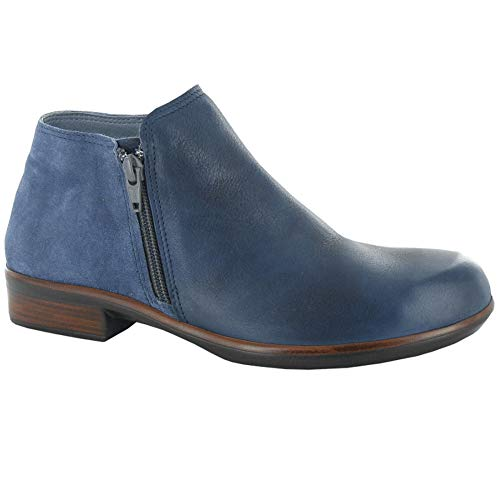 NAOT Women's Helm Ink Leather/Midnight Blue Suede 41 M EU M