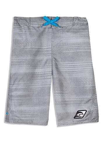 LAGUNA Boys Speed Zone Boardshorts Swim Trunks, UPF 50+, Grey/Blue, ()