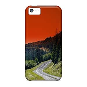 For Iphone Cases, High Quality Winding Road For Iphone 5c Covers Cases wangjiang maoyi