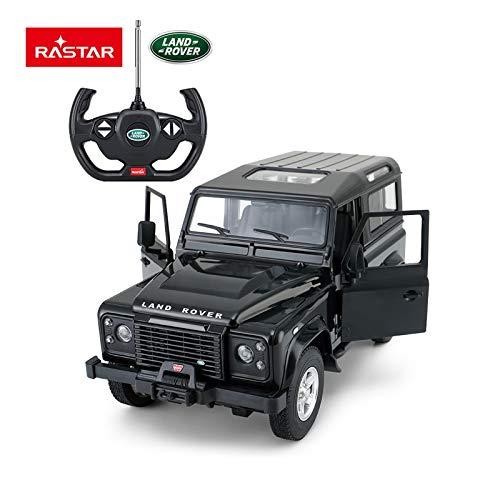 Land Rover Styling - RASTAR Radio Remote Control 1/14 Scale Land Rover Denfender Licensed RC Model Car (Black)