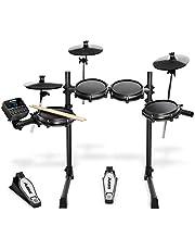 Alesis Turbo Mesh Kit | Zevendelig Mesh-head (gaasvellen) Elektronisch Drumstel met Superstevig Stalen Rack, 100+ Geluiden, 30 Meespeeltracks, Aansluitkabels, Drumstokken en Drumsleutel