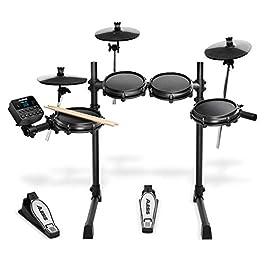 Alesis Drums Turbo Mesh Kit – Seven Piece Mesh Electric Drum Set With 100+ Sounds, 30 Play-Along Tracks, Drum Sticks…