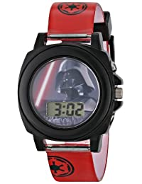 Star Wars Kids' DAR3518 Darth Vader Talking Digital Display Watch With Red Rubber Band