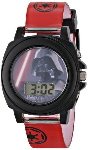Star Wars Kids' DAR3518 Darth Vader Talking Digital Display Watch With Red Rubber Band