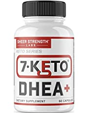 Extra Strength 7 Keto DHEA 200mg Supplement - for Healthy Weight Management, Building Lean Muscle, and Restoring Youthful Energy Levels in Men and Women, Sheer Strength Labs, 60ct