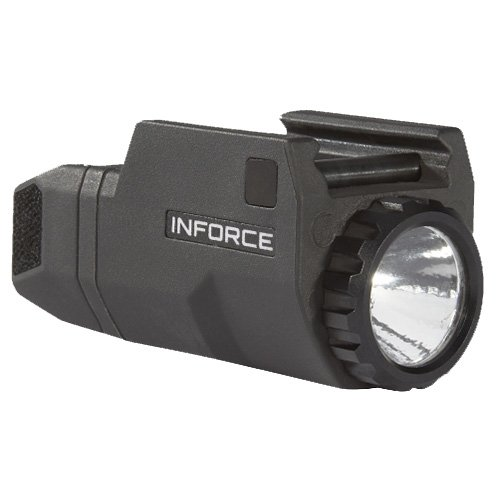 Pistol Glock Barrels - InForce APLc Compact WML Weapon Mounted White Light For Glock Auto Pistol 200 Lumens Black ACG-05-1