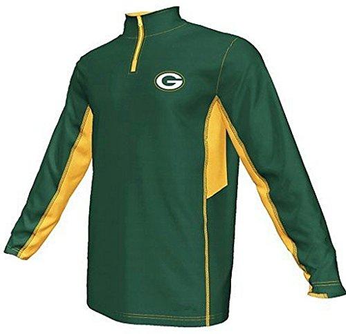 Green Bay Packers NFL Mens Synthetic 1/4 Zip Lightweight Fleece Green Size LT