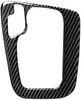 カーボンファイバーインテリア音源Dashboardコンソール変速パネルトリムフレームBMW 3シリーズE46用ステッカー装飾カバー(1998-2005) 車のフロントドアボウルの装飾