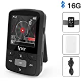 MP3 Player With Bluetooth - 16GB Portable Digital Music Player With FM Radio/Voice Recorder, Including Wearable Clip, Armband and Silicone Case For Sport Running, Expandable Up To 128GB
