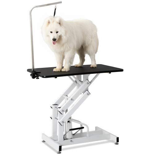Mooseng Suitable for Heavy-Duty Large Dogs and Cats Z-Type Power Shaft - pet Dressing Table, White and Black by Mooseng