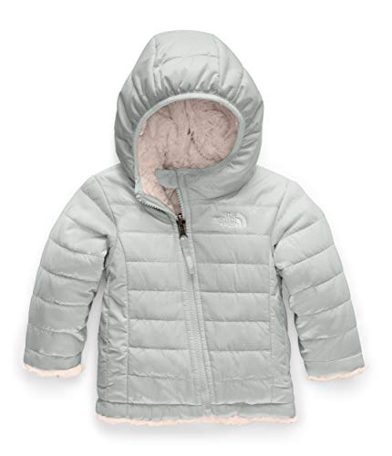 The North Face Kids Baby Girl's Reversible Mossbud Swirl Hoodie, Meld Grey, 6-12 Months