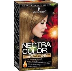 schwarzkopf nectra color 845 blond praline coloration permanente soin la bote de 165ml - Schwarzkopf Coloration