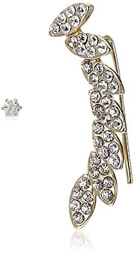 Accessorize Ear Cuff Earrings for Women (Crystal) (MN-18154308001)