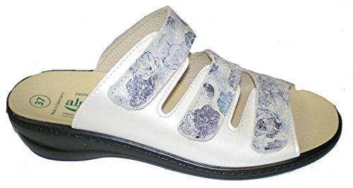Algemare 1239-8112 mujer clogs & mules beige/azul