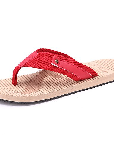 NTX/ Men's Shoes Outdoor / Casual Style Fashion Slip Resistant Linen / Fabric Flip-Flops Blue / Red red-us7.5 / eu39 / uk6.5 / cn40 gnx3V6OS46