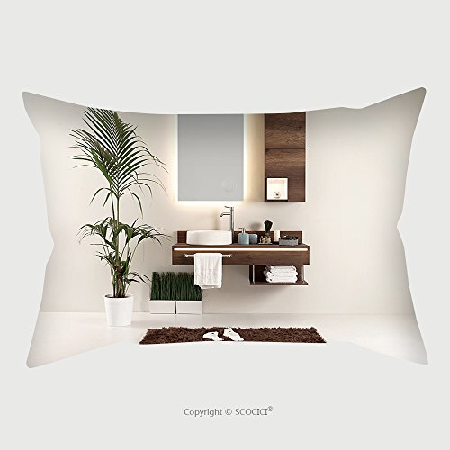 Custom Microfiber Pillowcase Protector Modern Wall Clean Bathroom Style And Interior Decorative Design 564580399 Pillow Case Covers Decorative price