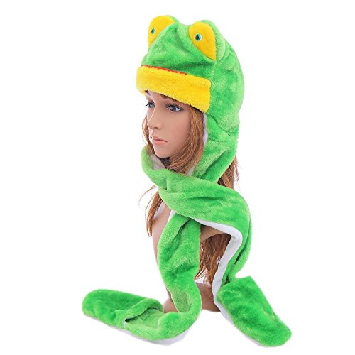 Frog_(US Seller)Hat Scarf Mittens Animal Cap Costume Long (Mario Bullet Costume)