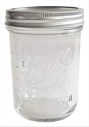 Ball Mason Jar-16 oz. Clear Glass Wide Mouth-One Jar ()