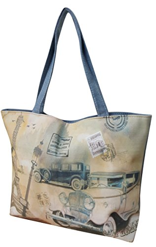 Canvas Femmes bandoulière Satchel Tote Sac Sac Designer à Impression 10 Shopper Filles Casual Design 0qw6Pq