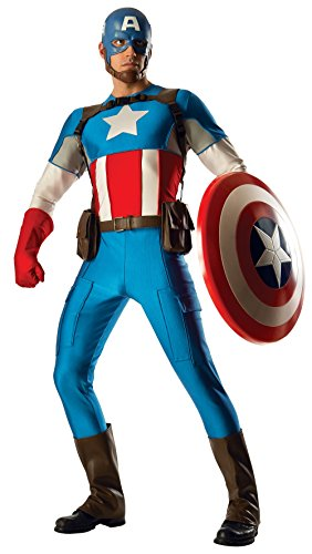 Rubie's Costume Co Men's Marvel Universe Grand Heritage Collector Captain America Costume, Multi, (Captain Marvel Cosplay Costume)