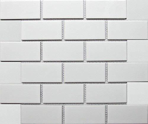 - White Tile Ceramic Subway Brick Gloss Finish 2