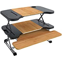 Standing Desk, Breet Stand Up Desk Adjustable Sit Stand Desk Ergonomic Laptop Desk (120-460mm)